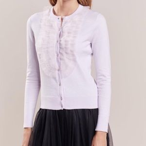 J. Crew • Jackie Cardigan Sweater with Tulle